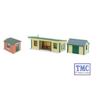 NB-16 Peco N Gauge Platform shelter wooden type with 2 huts Kit