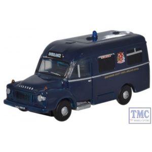 NBED001 Oxford Diecast Bedford/Lomas Ambulance Hereford 1/148 Scale N Gauge