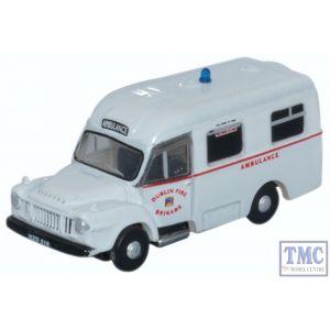 NBED003 Oxford Diecast 1:148 Scale N Gauge Bedford J1 Ambulance Dublin