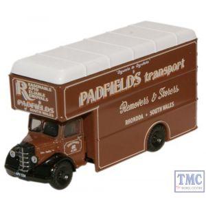 NBP003 Oxford Diecast Padfields Transport Bedford Luton Van 1/148 Scale N Gauge