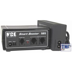 SB5-UK NCE 5 Amp Smartbooster for Power Cab includes (P514) power supply / UK power cord