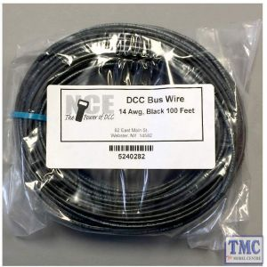 MBWB100 NCE DCC Main Bus Wire (Black) 14AWG 100 Feet