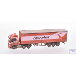 NVOL4003 Oxford Diecast N Gauge Volvo FH4 Curtainside Wagon Knowles Weathered by TMC