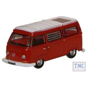 NVW004 Oxford Diecast 1:148 Scale N Gauge Senegal Red/White VW Camper
