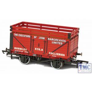 OR76CK7003 Oxford Rail 7 Plank Mineral Wagon - John Hargreaves (2 Coke Rails)