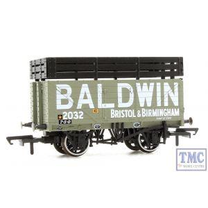 OR76CK7005 Oxford Rail OO Gauge PO 7 Plank Mineral Wagon Coke Baldwin no.2032 Grey