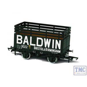 OR76CK7006 Oxford Rail OO Gauge PO 7 Plank Mineral Wagon Coke Baldwin no.3022 Black