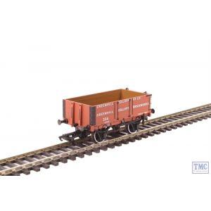 OR76MW4008 Oxford Rail OO Gauge 4 Plank Wagon Greenhill Colliery Co Ltd no.334