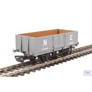 OR76MW6001B Oxford Rail OO Gauge 6 Plank Wagon LNER Grey E139522