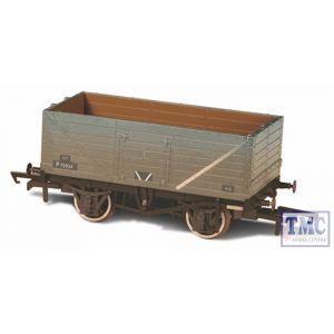 OR76MW7015 Oxford Rail OO Gauge BR Grey Wagon 7 Plank Wagon Weathered