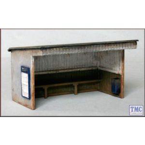 PM110 Knightwing International OO/HO Station Halt/Shelter Building (Flat Roof)