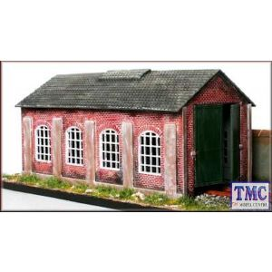 PM112 Knightwing International OO/HO Single Road Engine Shed Kit