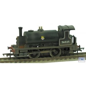 R3064 Hornby OO Gauge Railroad BR 0-4-0T 56025 E/Emblem Weathered by TMC (Ex-Smokey Joe)(Pre-owned)