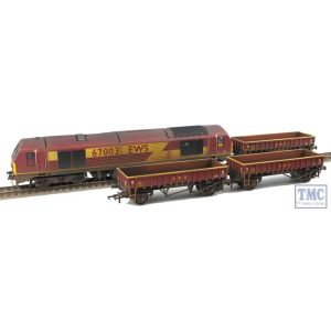 R3399 Hornby OO Gauge EWS Freight Train Pack - Limited Edition (Loco has parts fitted) Weathered by TMC