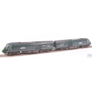 R3685 Hornby OO Gauge GWR Class 43 HST Power Cars 43041 Meningitis Trust Support for Life & 43005 (Era 11) Weathered by TMC