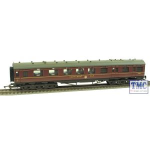 R4131C Hornby OO Gauge Stanier Period III 68ft Dining/Restaurant Car - BR Maroon Weathered by TMC