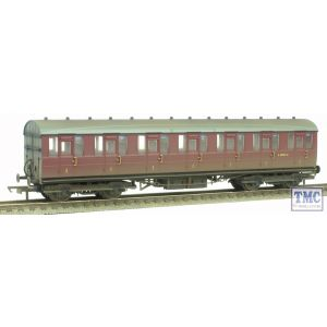 R4648 Hornby OO Gauge BR Gresley Suburban First Class Coach Maroon Weathered By TMC