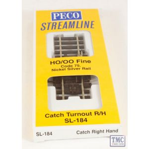 SL-184 OO/HO Scale Catch Point R/H Peco