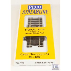 SL-185 OO/HO Scale Catch Point L/H Peco