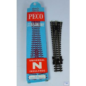 SL-391 Peco Point N Gauge medium radius r/h