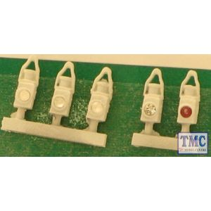 SPDA19-5 Springside OO Gauge BR Head & Tail Lamps White 5pk