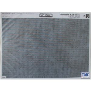 D3 Superquick OO/HO Building Papers - Engineers Blue Brick