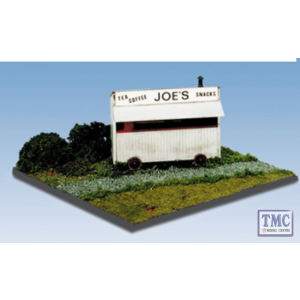 SS14 OO Gauge Tea Kiosk with printed Name & Interior Detail