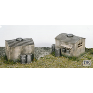 SS22 OO Gauge Lamp Huts With Oil Drums (2)