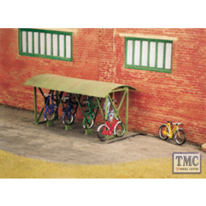 SS23 OO Gauge Bicycle shed & Bicycles