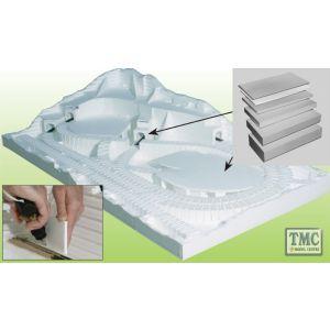 """ST1423 Woodland Scenics .5"""" x 2' Long Foam Sheet (x4/Pack)"""