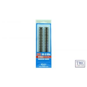 ST-411 Peco OO9 Gauge Double Straight Blister Pack 4 Pack
