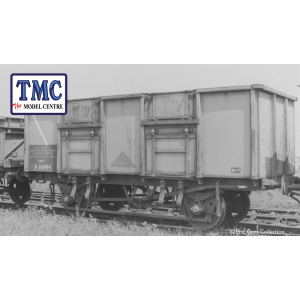 38-931Z Bachmann BR 24.5 Ton Mineral Wagon, B281861, in BR Grey Livery marked 'NO DOORS', Data Panel coded SAND, Spindle Buffers & Oil Axleboxes