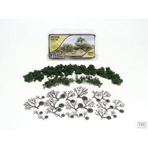 "TR1112 Woodland Scenics 3""-7"" Medium Green Deciduous Trees (6/Kit)"