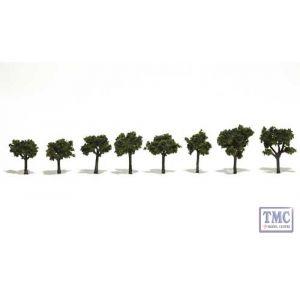 """TR1501 Woodland Scenics .75""""-1.25"""" Ready Made Medium Green (8/Pk)"""