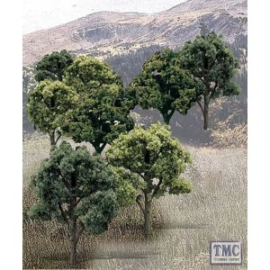"TR1572 Woodland Scenics 3""-5"" Ready Made Mixed Green Deciduous Value Pack (14/Pk)"
