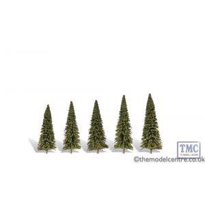 "TR3565 Woodland Scenics 2 ""-3 .5"" Classic Forever Green (5/Pk)"