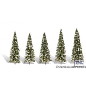 "TR3567 Woodland Scenics 2 ""-3 .5"" Classic Snow Dusted (5/Pk)"