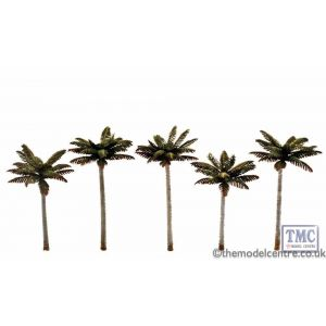"TR3597 Woodland Scenics 3""-3.75"" Classic Small Palm Trees (5/Pk)"