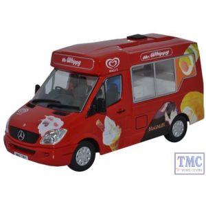 WM001 Oxford Diecast 1:43 Scale Walls Ice Cream Whitby Mondial Ice Cream Van Mercedes Ice Cream