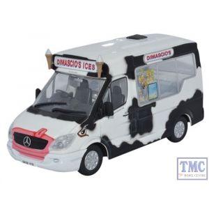 WM004 Oxford Diecast 1:43 Scale Whitby Mondial Ice Cream Van Dimascios Mercedes Ice Cream