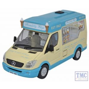 WM007 Oxford Diecast 1:43 Scale Picadilly Whip Whitby Mondial Ice Cream Van Mercedes