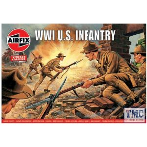 A00729V Airfix 1:76 Scale WWI U.S. Infantry