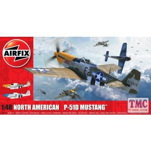 A05138 Airfix 1:48 Scale North American P51-D Mustang (Filletless Tails)