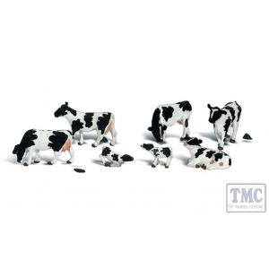 A2724 Woodland Scenics Painted Figures O Holstein Cows