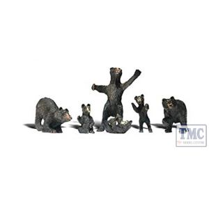 A2737 Woodland Scenics Painted Figures O Black Bears
