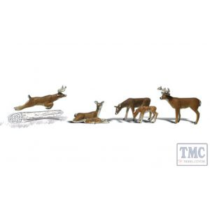 A2738 Woodland Scenics Painted Figures O Deer