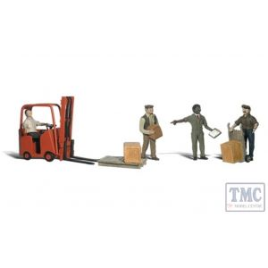 A2744 Woodland Scenics Painted Figures O Workers with Forklift