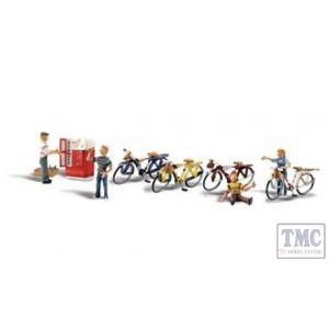 A2752 Woodland Scenics Painted Figures O Bicycle Buddies
