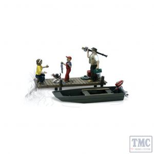 A2756 Woodland Scenics Painted Figures O Family Fishing