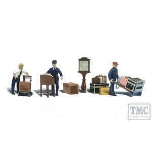 A2757 Woodland Scenics Painted Figures O Depot Workers & Accessories